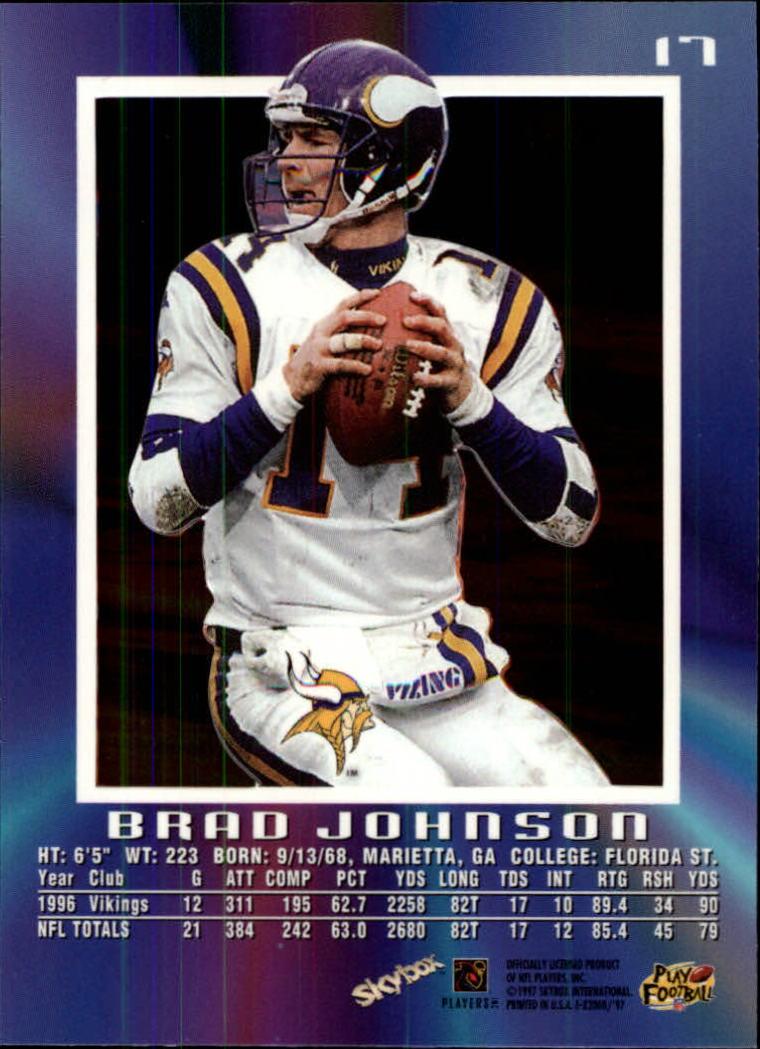 1997 E-X2000 #17 Brad Johnson back image