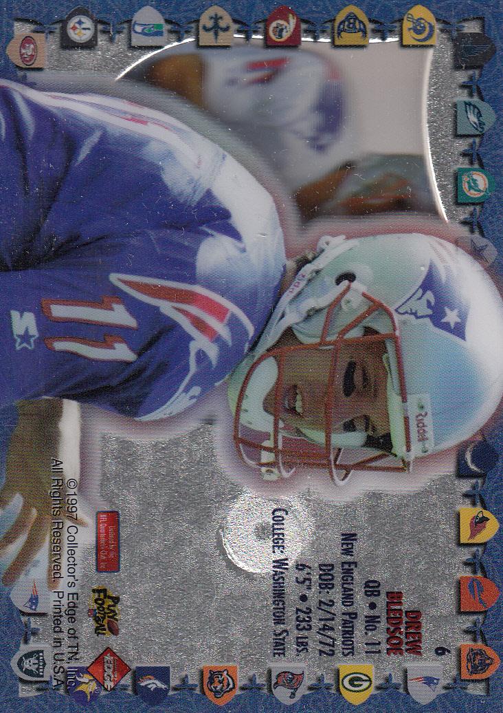 1997 Excalibur Game Helmets #6 Drew Bledsoe back image