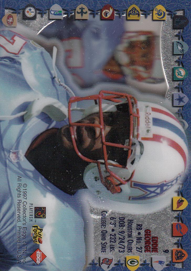 1997 Excalibur Game Helmets #9 Eddie George back image