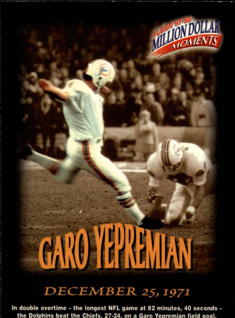 1997 Fleer Million Dollar Moments #23 Garo Yepremian