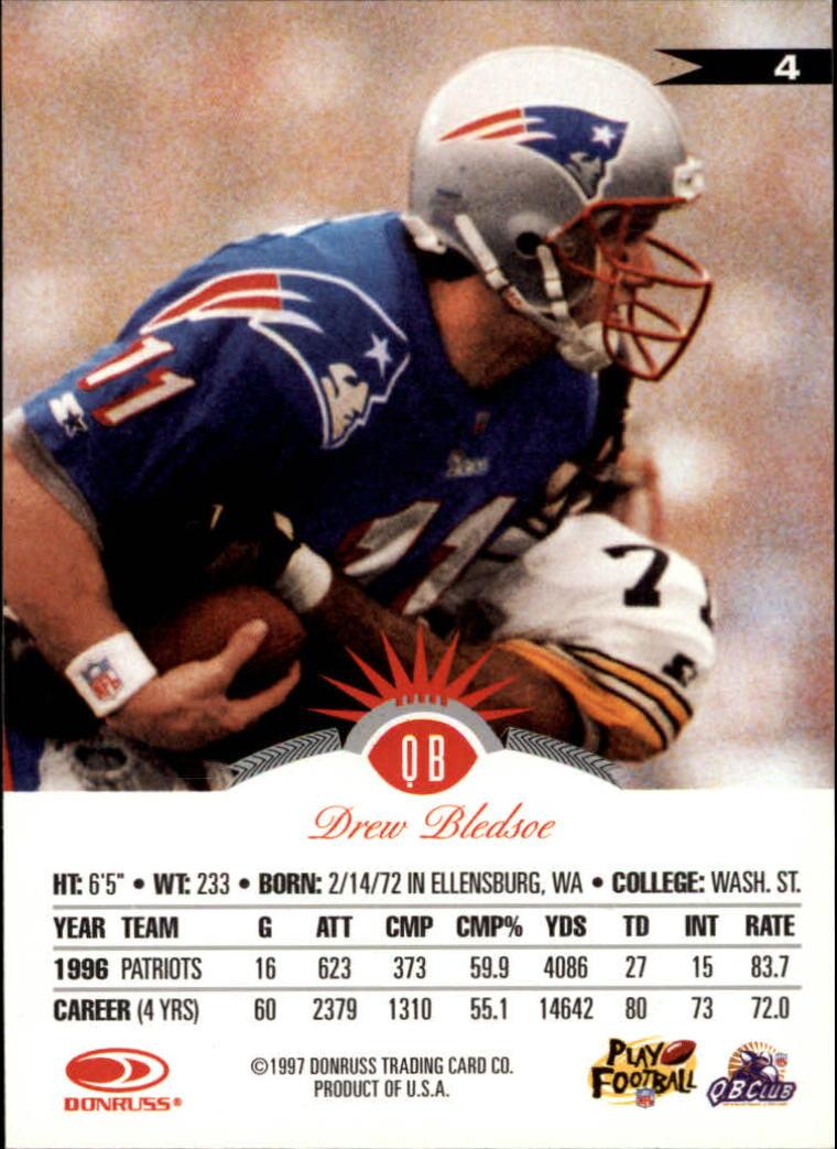 1997 Leaf #4 Drew Bledsoe back image