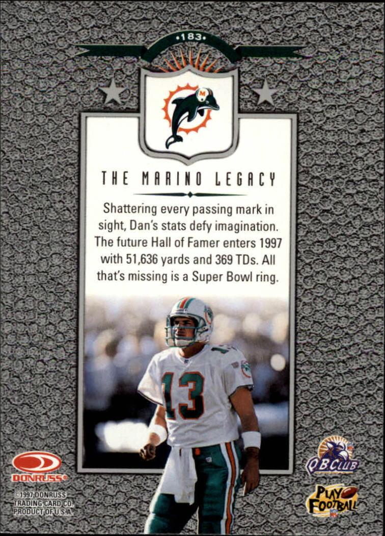 1997 Leaf #183 Dan Marino L back image