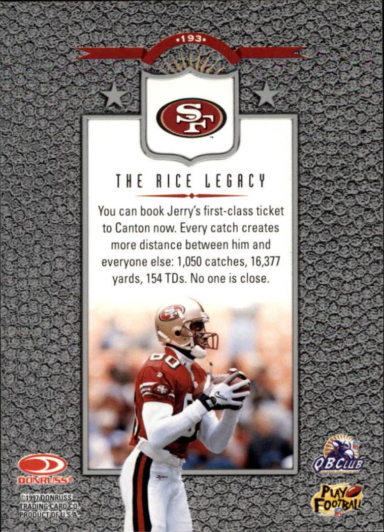 1997 Leaf #193 Jerry Rice L back image