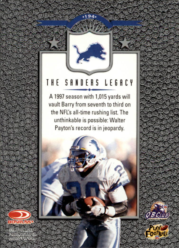 1997 Leaf #194 Barry Sanders L back image