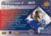 1997 Pacific #436 Ike Hilliard RC back image
