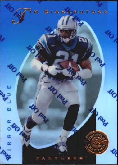 dd564f141 1997 Pinnacle Certified Mirror Blue  40 Tim Biakabutuka