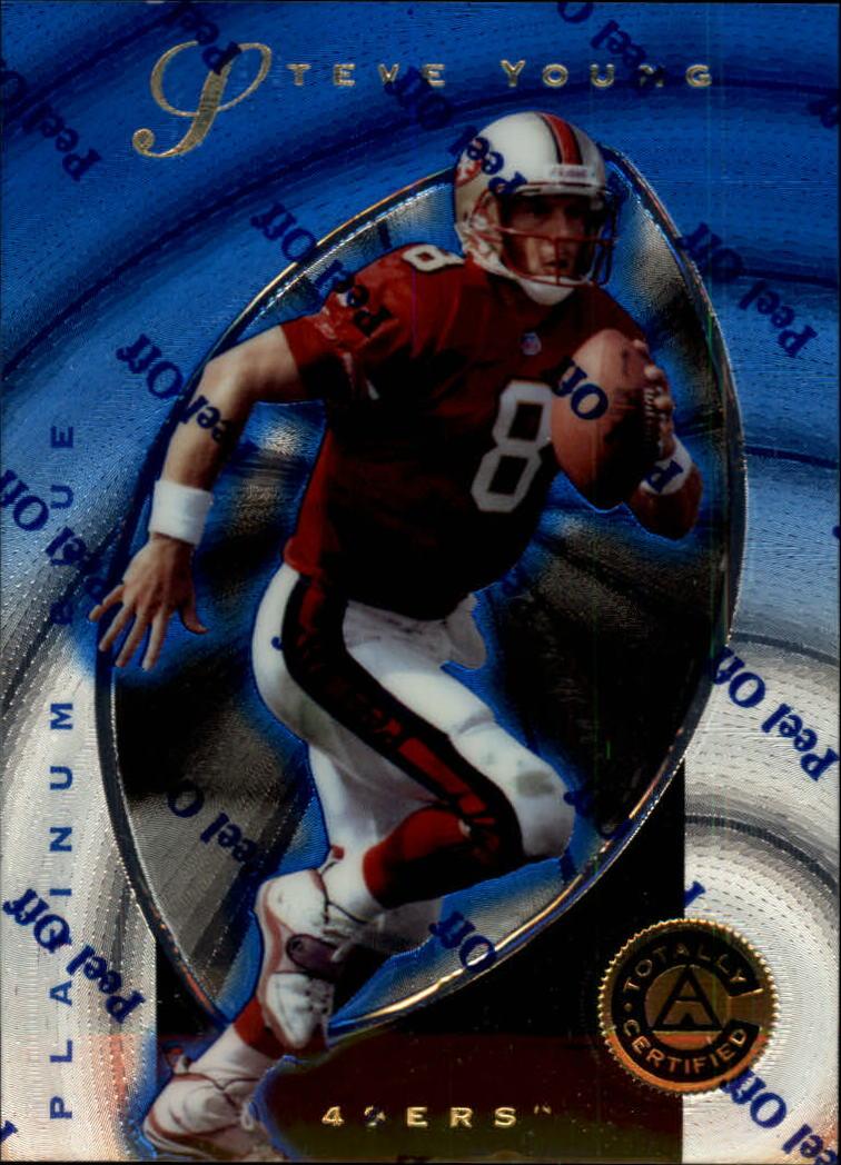 Verzamelkaarten: sport Amerikaans voetbal 1997 Pinnacle Totally Certified Platinum Blue #7 Drew Bledsoe Football Card
