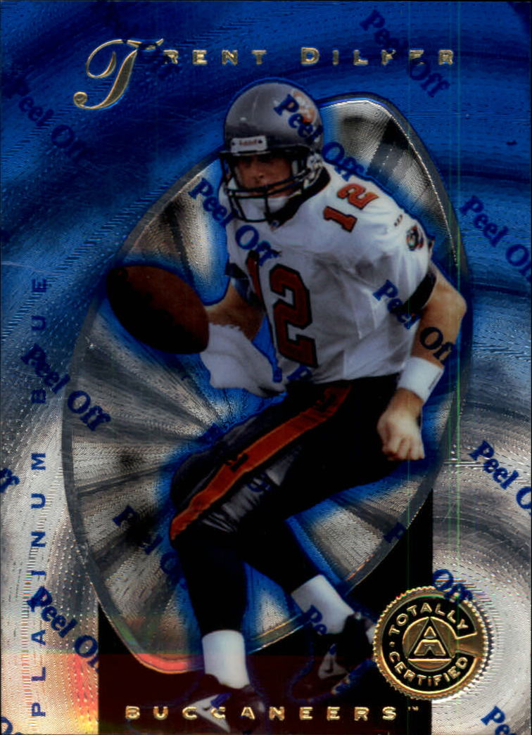 1997 Pinnacle Totally Certified Platinum Blue #32 Trent Dilfer
