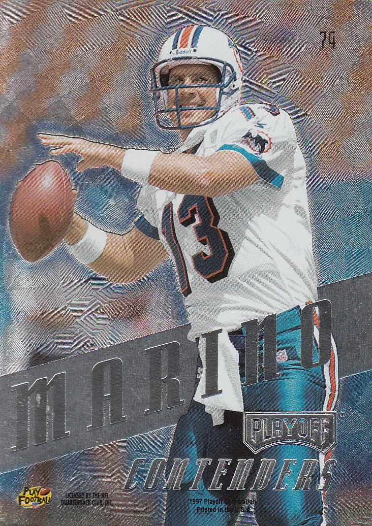 1997 Playoff Contenders #74 Dan Marino back image