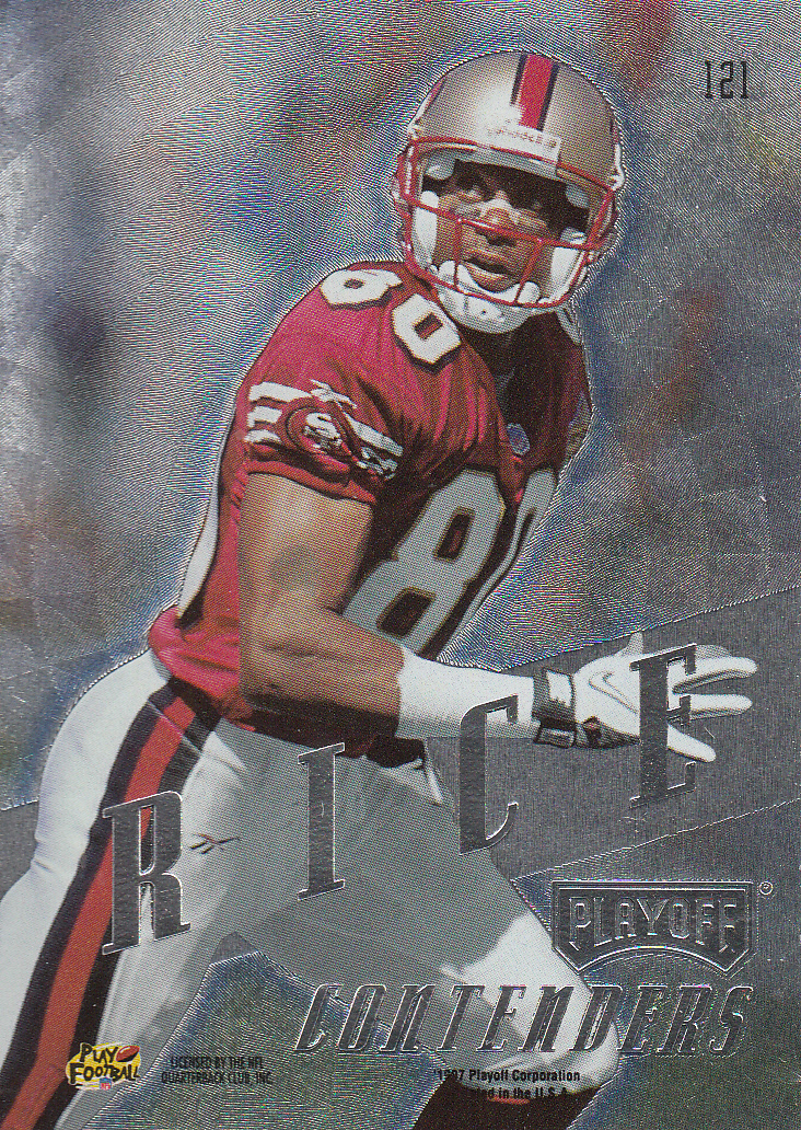 1997 Playoff Contenders #121 Jerry Rice back image