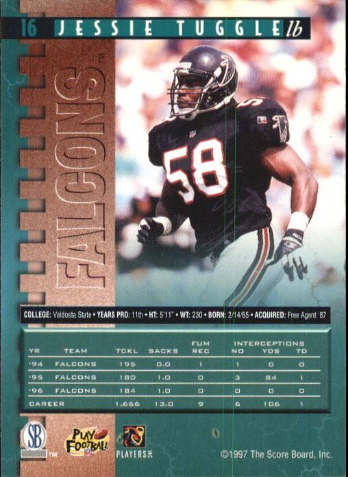 cbad05e00 1997 Pro Line Football Card #16 Jessie Tuggle | eBay
