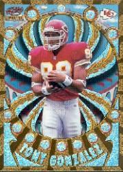 1997 Revolution Platinum Blue #67 Tony Gonzalez