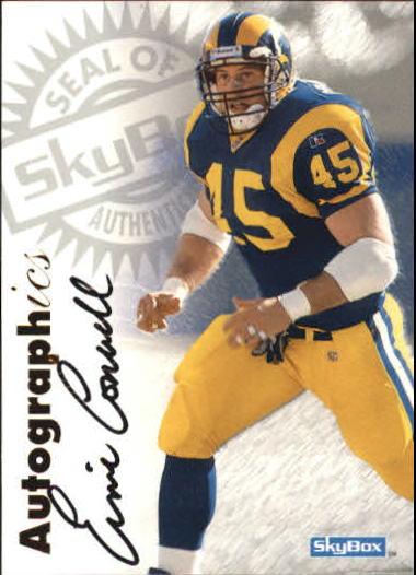 1997 SkyBox Premium Autographics #14 Ernie Conwell EX/IM/S