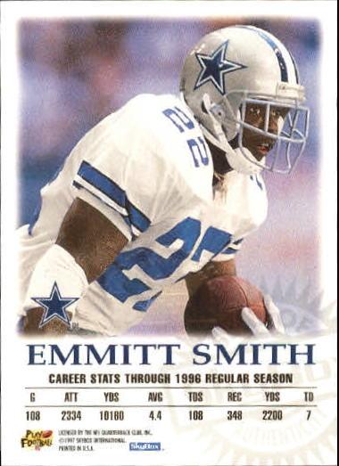 1997 SkyBox Premium Autographics #55 Emmitt Smith EX back image