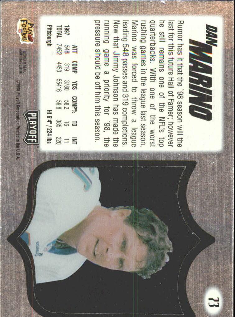 1998 Absolute Hobby Silver #73 Dan Marino back image