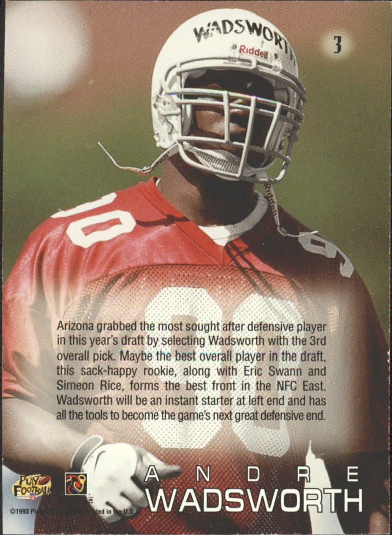 1998 Absolute Draft Picks #3 Andre Wadsworth back image