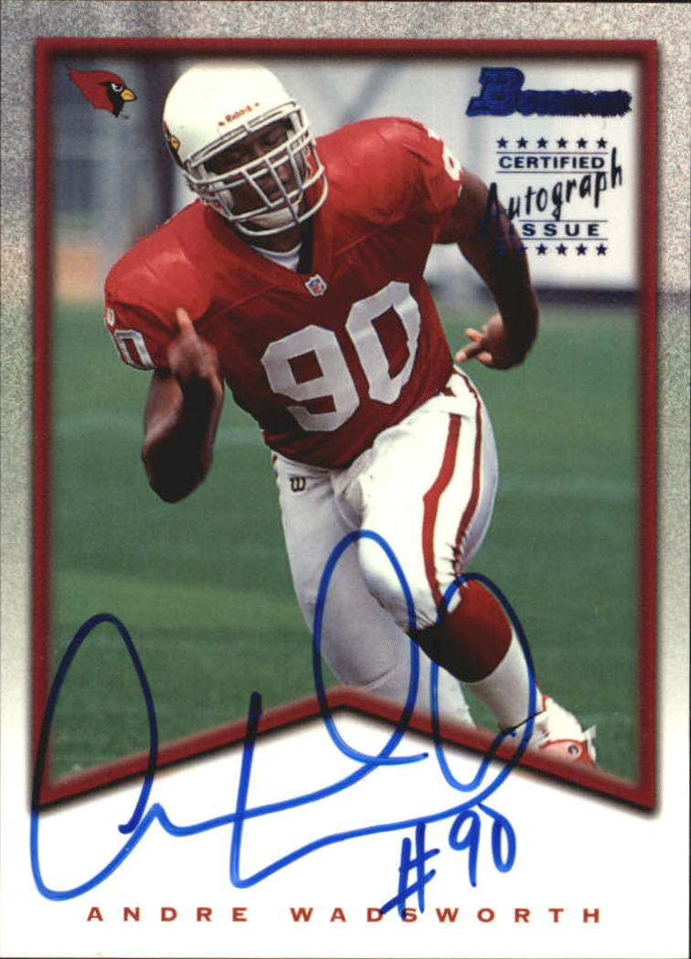 1998 Bowman Rookie Autographs #A2 Andre Wadsworth