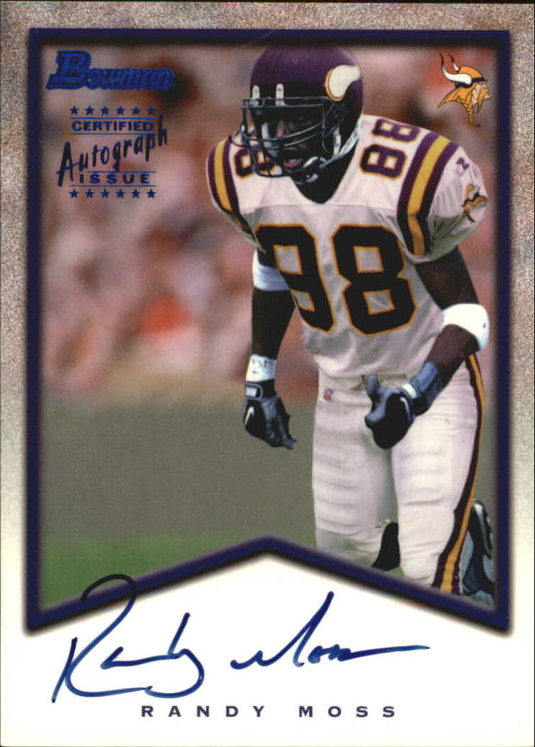 1998 Bowman Rookie Autographs #A7 Randy Moss