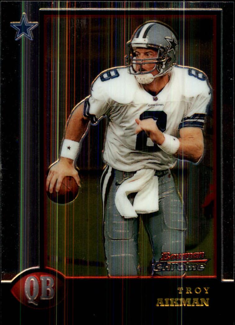 1998 Bowman Chrome #128 Troy Aikman