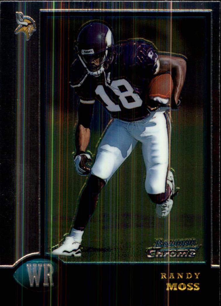 1998 Bowman Chrome #182 Randy Moss RC