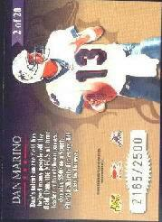 1998 Leaf Rookies and Stars Great American Heroes #2 Dan Marino back image