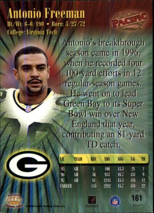 1998 Pacific #161 Antonio Freeman back image