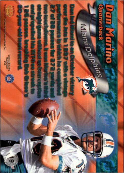 1998 Paramount Personal Bests #19 Dan Marino back image