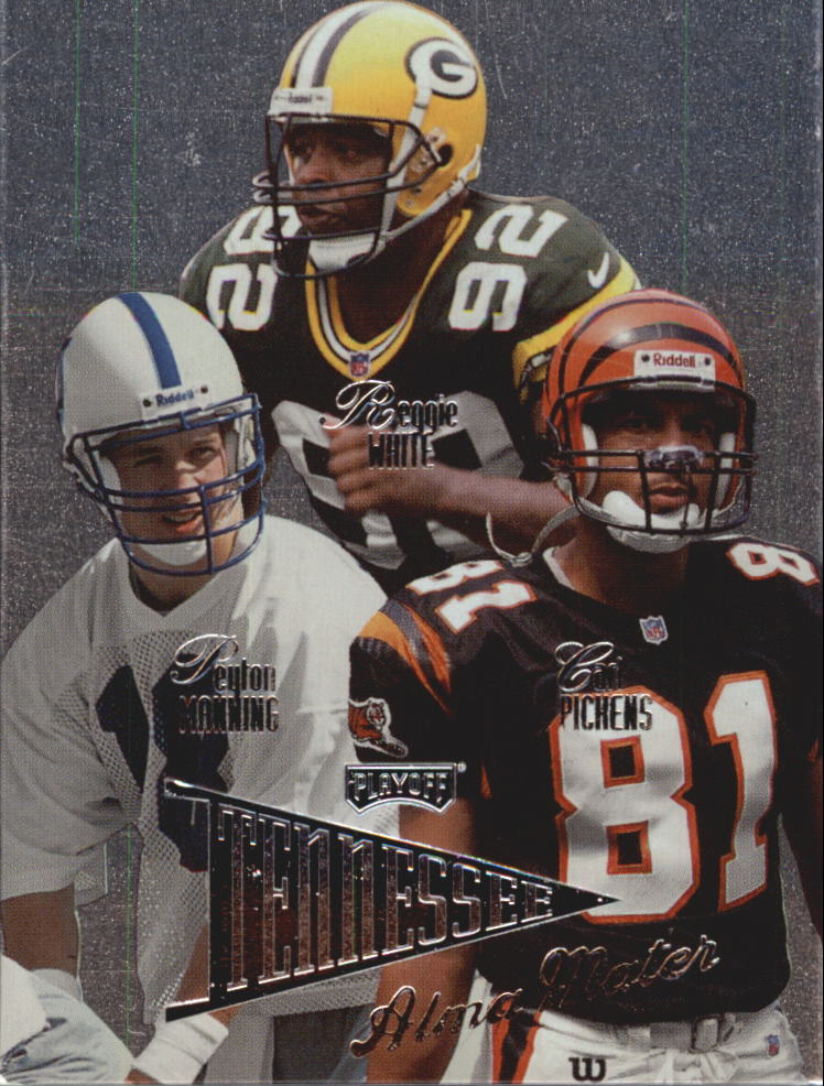 1998 Playoff Prestige Alma Maters #11 Peyton Manning/Carl Pickens/Reggie White