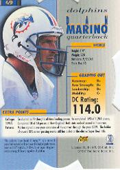 1998 Pro Line DC3 #49 Dan Marino back image