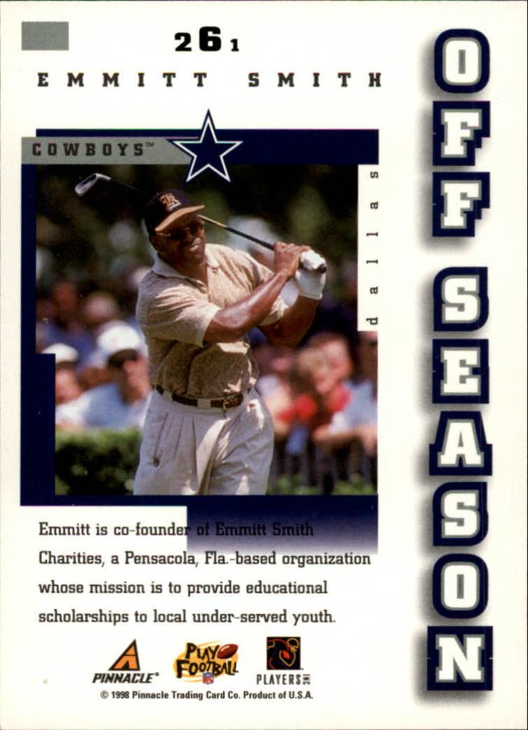 1998 Score #261 Emmitt Smith OS back image