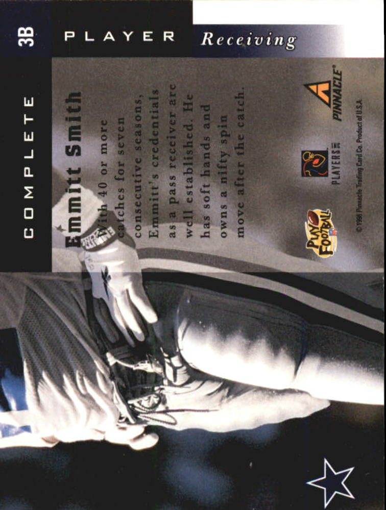 1998 Score Complete Players #3B Emmitt Smith back image
