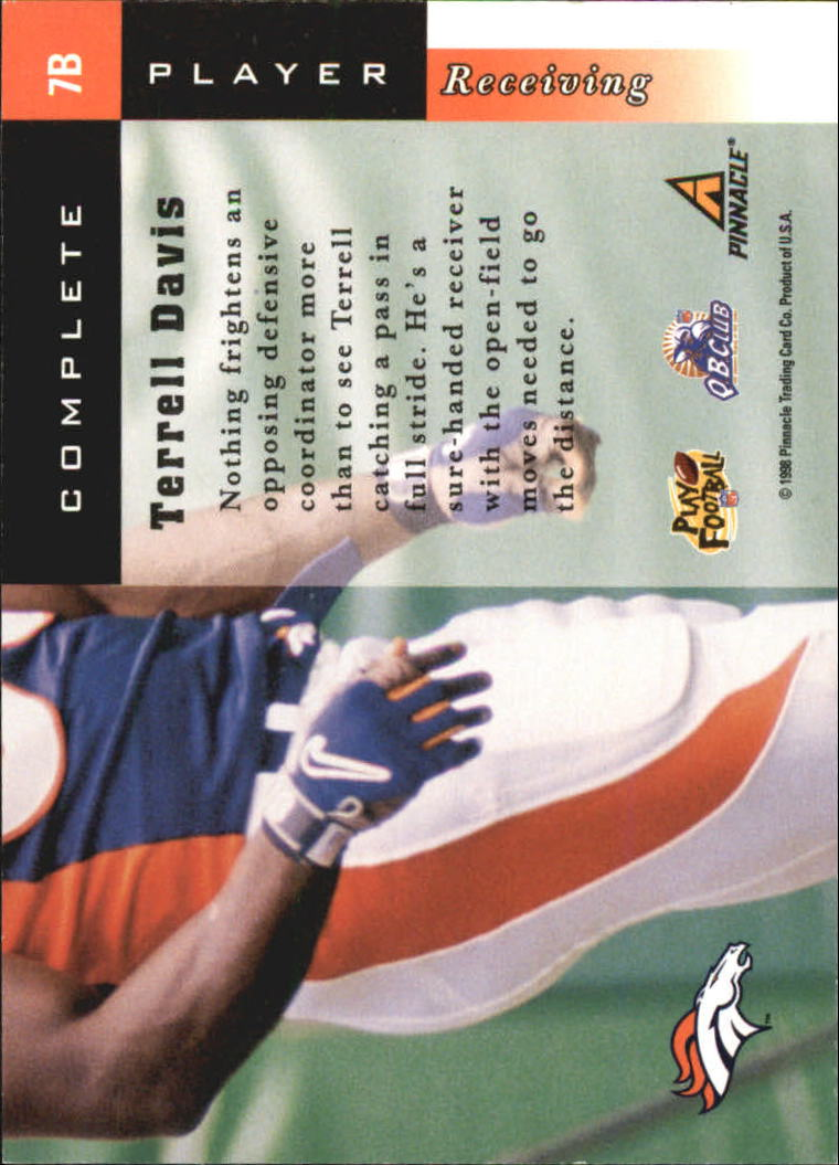 1998 Score Complete Players #7B Terrell Davis back image