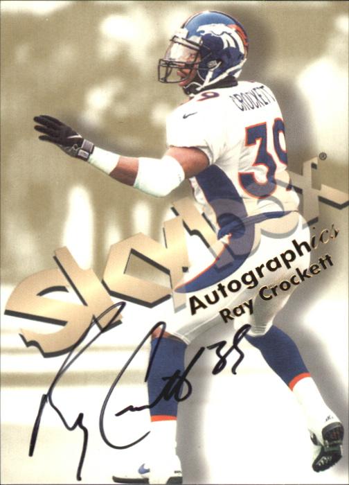 1998 SkyBox Premium Autographics #14 Ray Crockett S/ST*