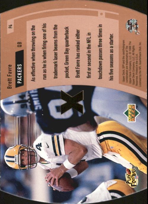 1998 SPx ProMotion #P4 Brett Favre back image