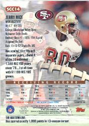 1998 Stadium Club Chrome Jumbos #SCC14 Jerry Rice back image