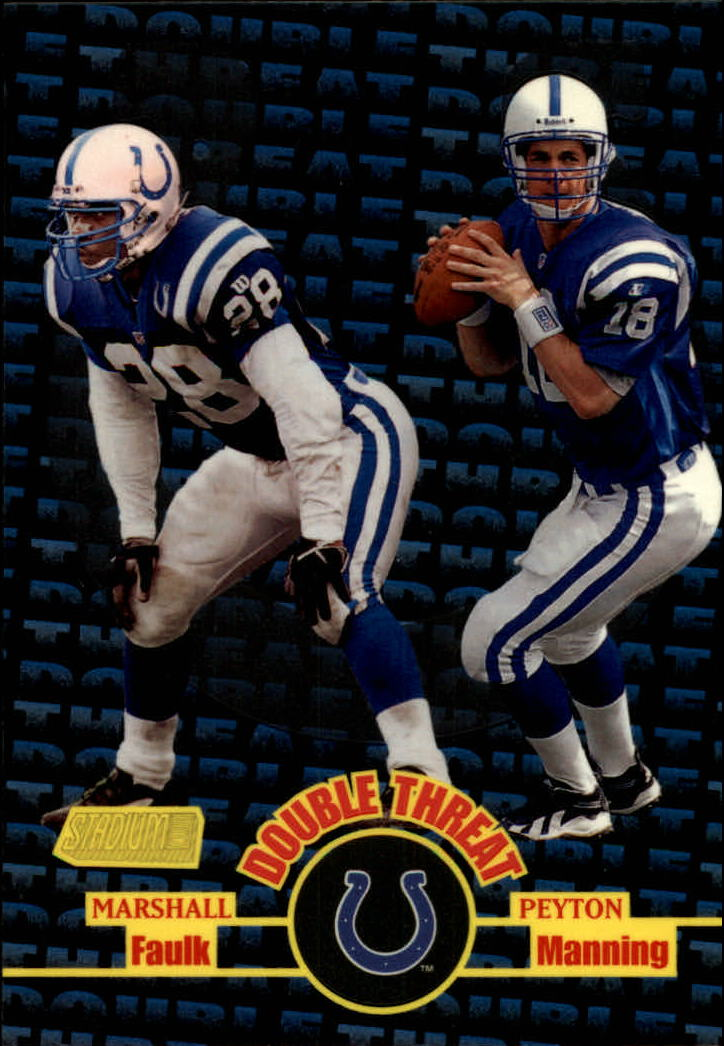 1998 Stadium Club Double Threat #DT1 M.Faulk/P.Manning