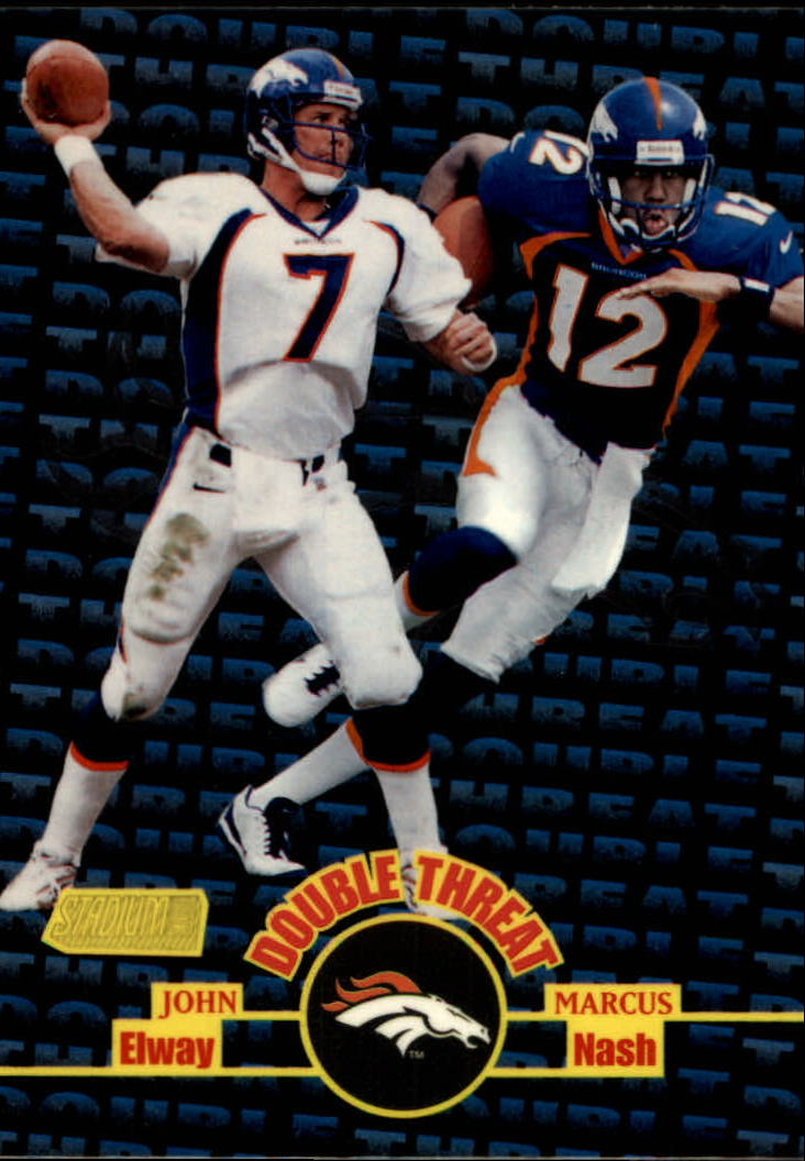1998 Stadium Club Double Threat #DT5 J.Elway/M.Nash