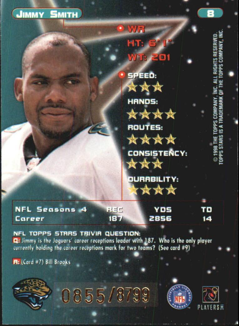 1998 Topps Stars #8 Jimmy Smith back image