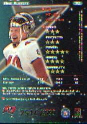 1998 Topps Stars #70 Mike Alstott back image