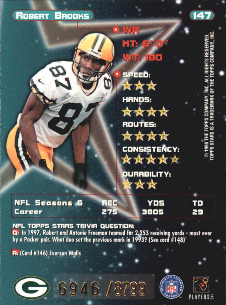 1998 Topps Stars #147 Robert Brooks back image
