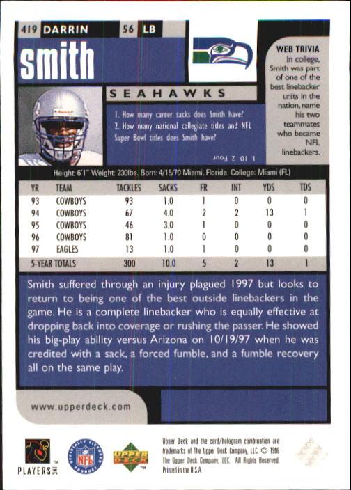 1998 UD Choice #419 Darrin Smith back image