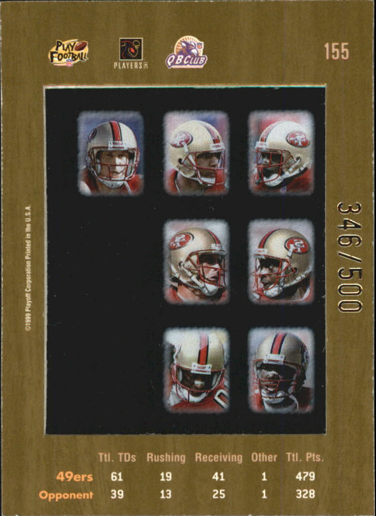 1999 Absolute SSD Coaches Collection Silver #155 49ers CL back image