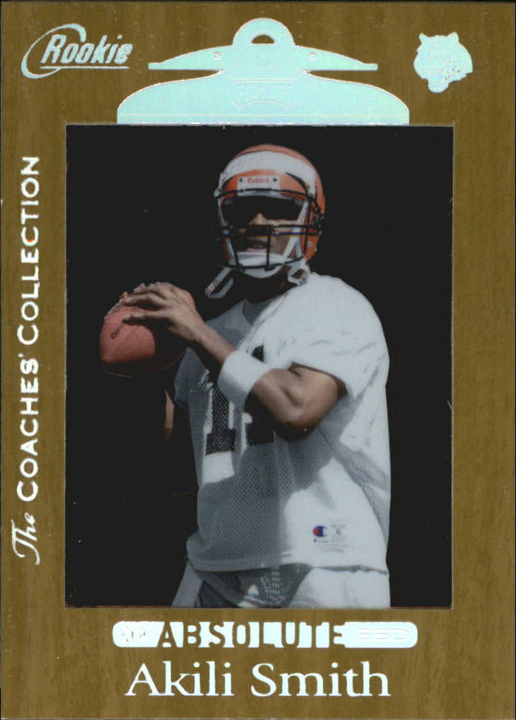 1999 Absolute SSD Coaches Collection Silver #163 Akili Smith