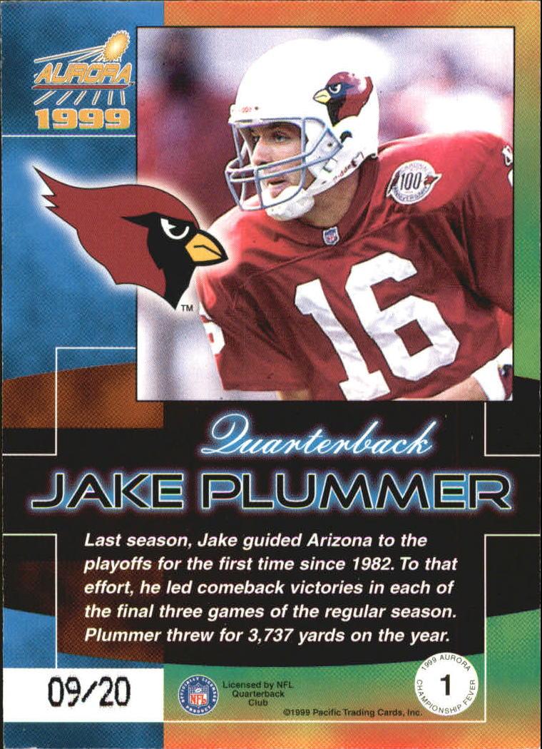1999 Aurora Championship Fever #1 Jake Plummer back image