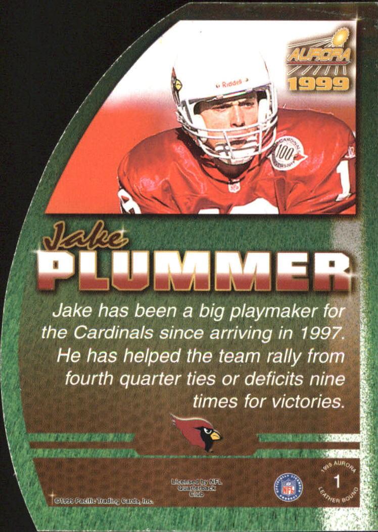 1999 Aurora Leather Bound #1 Jake Plummer back image