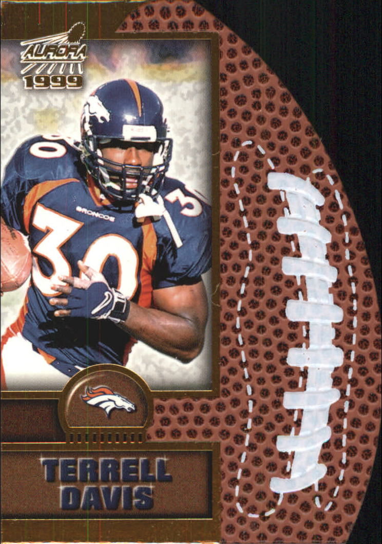 1999 Aurora Leather Bound #6 Terrell Davis