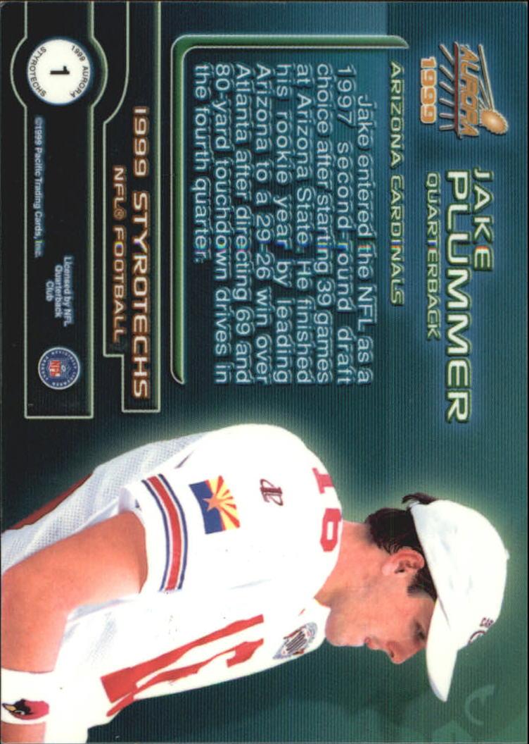 1999 Aurora Styrotechs #1 Jake Plummer back image