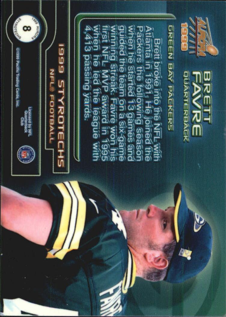 1999 Aurora Styrotechs #8 Brett Favre back image