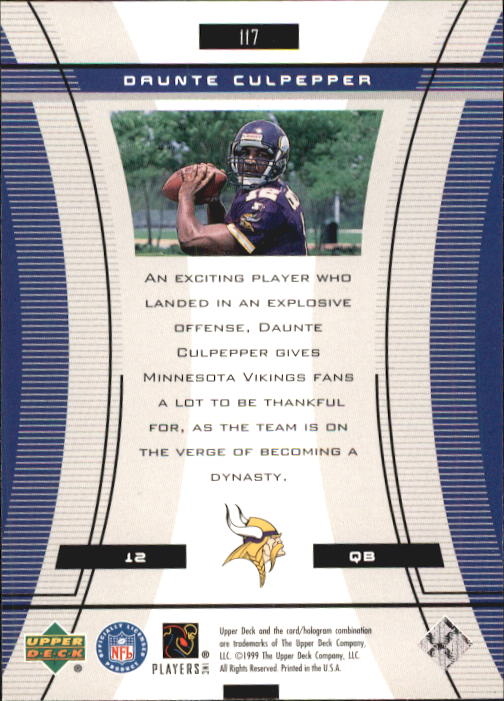1999 Black Diamond #117 Daunte Culpepper RC back image