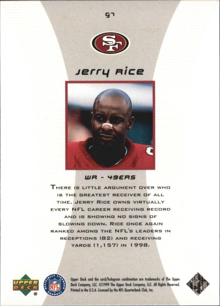 1999 Black Diamond Gallery #G7 Jerry Rice back image